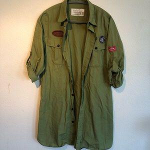 Army Green Long-sleeve Shirt or Jacket
